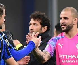 Frantic San Siro draw as Kyle Walker replaces Bravo in the goal. AFP