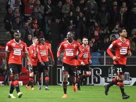 El Rennes sigue en puestos de Europa. AFP