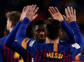 Les compos officielles du match de Liga entre le FC Barcelone et Valladolid. AFP
