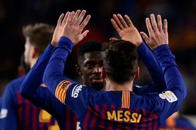 El Barça se juega mucho en este mes de febrero. AFP