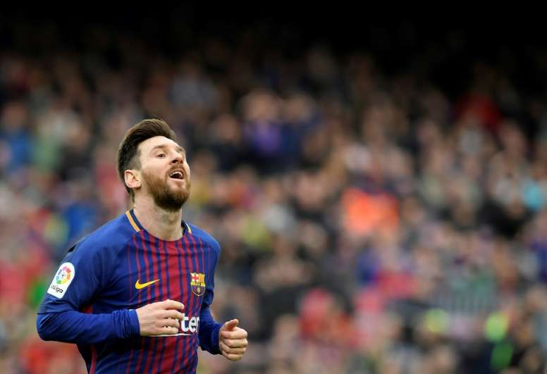 Messi, meilleur buteur du championnat espagnol. AFP