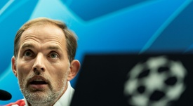 Tuchel got serious when it came to talking about PSG. AFP