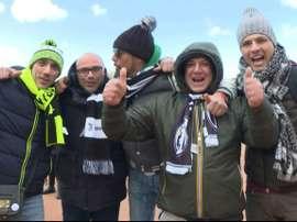 Des supporters de la Juventus dans les rues de Lyon. AFP