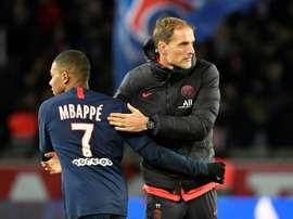 A imprensa francesa, a favor de Tuchel na confusão com Mbappé. AFP