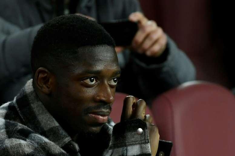 La lesión de Dembélé ha trastocado los planes del Barça. AFP