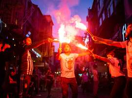 O Antalyaspor confirma 50 casos de COVID-19 no clube. AFP