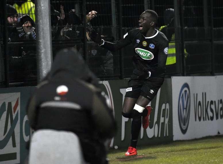 Lassana Doucouré anotó el único gol del partido. AFP