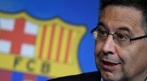 Bartomeu negó que haya pensado dimitir. AFP