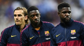 Dembele will reappear against Bayern. AFP