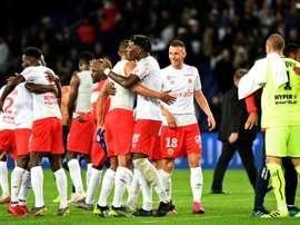 Les compos probables du match de Ligue 1 entre Reims et Montpellier. AFP
