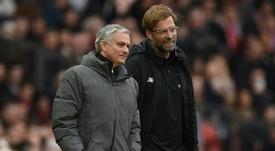 Mourinho se alegró por la renovación de Klopp. AFP