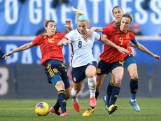 SheBelieves Cup: les Etats-Unis viennent à bout de l'Espagne. AFP