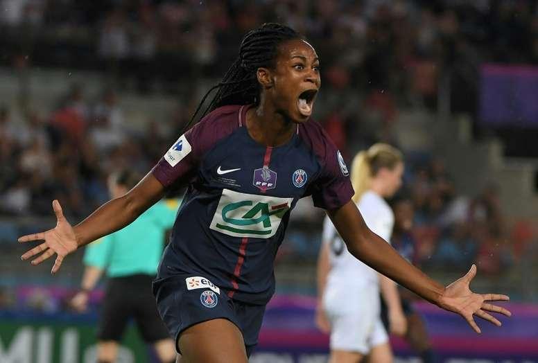 Les féminines du PSG pulvérisent Marseille 11-0. AFP