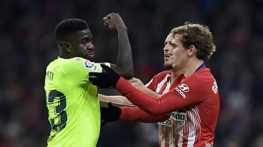 Samuel Umtiti Barcelona. AFP