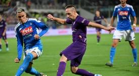Fiorentina, Ribéry in cerca di riscatto: media di 19 partite a stagione negli ultimi sei anni. AFP