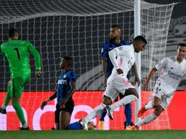 À Mönchengladbach, gagner ou chuter pour l'Inter Milan. afp