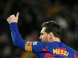 Lionel Messi segue na artilharia do Campeonato Espanhol. AFP