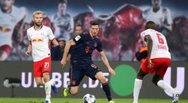Lewandowski contre Werner, le duel ultime des cannoniers. AFP