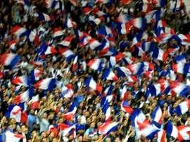 Les supporters français lors du match nul face au Luxembourg, le 3 septembre 2017 à Toulouse. AFP