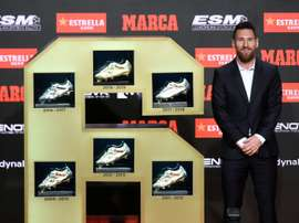 Messi has won his sixth Golden Shoe. AFP