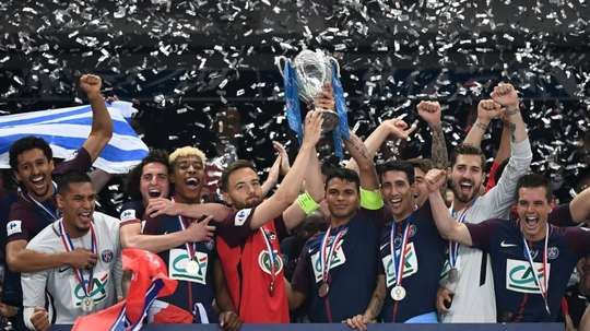 PSG won their second trophy on Wednesday. AFP