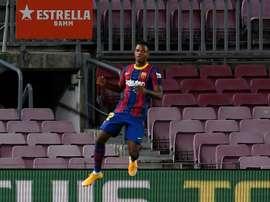 Ansu Fati brilhou na estreia do Barça. AFP