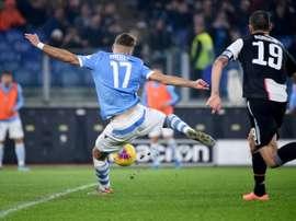 Immobile está fazendo uma grande temporada na Lazio. AFP