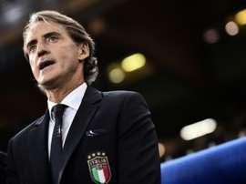 Le sélectionneur de lItalie Roberto Mancini. AFP