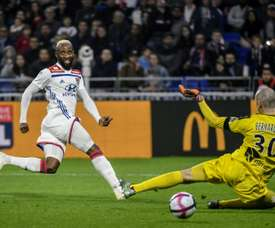 Dembélé abrió el marcador. AFP