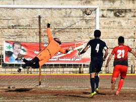 En Syrie, le football éprouvé par la dégringolade de la monnaie nationale. afp