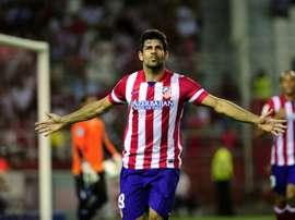 L'attaquant de l'Atletico Madrid Diego Costa lors d'un match contre Séville. AFP