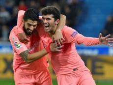 Le Barça est tout proche du titre. AFP