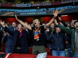 The CSKA fans were in fine voice. AFP