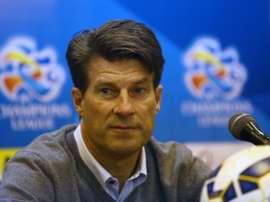 L'ancien joueur danois Michael Laudrup, alors entraîneur du club qatari de Lekhwiya. AFP