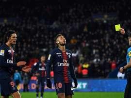 Neymar, dúvida diante do Amiens. AFP
