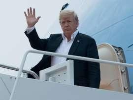 Donald Trump se félicite de l'attribution du Mondial 2026. AFP