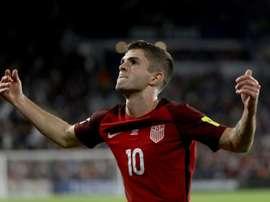 L'Américain Christian Pulisic exulte après avoir inscrit un but face au Panama. AFP