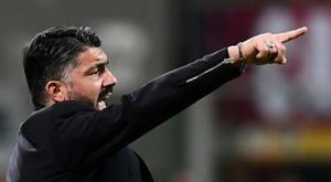As primeiras palavras de Gattuso como técnico do Napoli. AFP