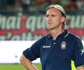 Davide Nicola alors entraîneur de Crotone. AFP