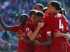 La lutte continue entre City et Liverpool. AFP