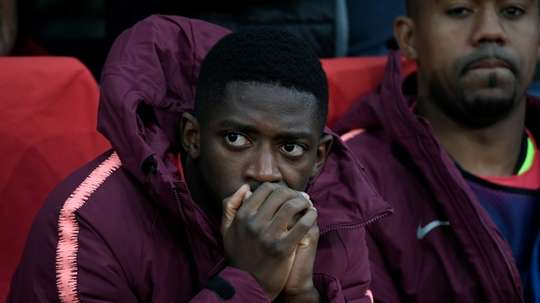 L'attaquant du FC Barcelone, Ousmane Dembélé. AFP