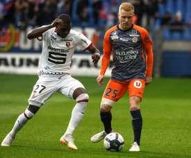 Les compos probables du match de Ligue 1 entre Rennes et Montpellier. AFP