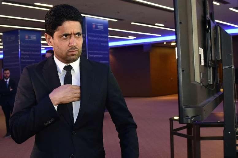 Os donos do PSG querem comprar um clube inglês. AFP