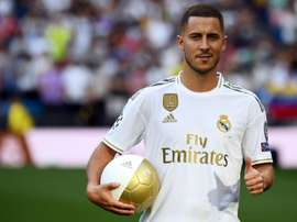 Hazard hopes to wear the number 7 shirt. AFP