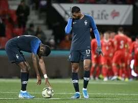 Minée par sa défense, la France chute en Suisse . AFP