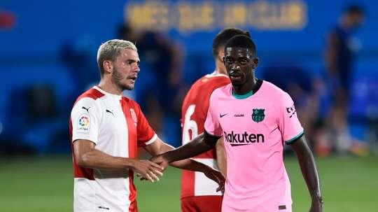 Dembélé veut poursuivre au FC Barcelone. AFP