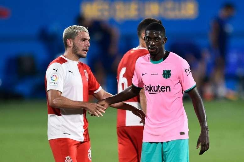Dembélé, um dos mais criticados na derrota do Barça. AFP