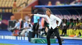 Hervé Renard quitte son poste de sélectionneur du Maroc. AFP