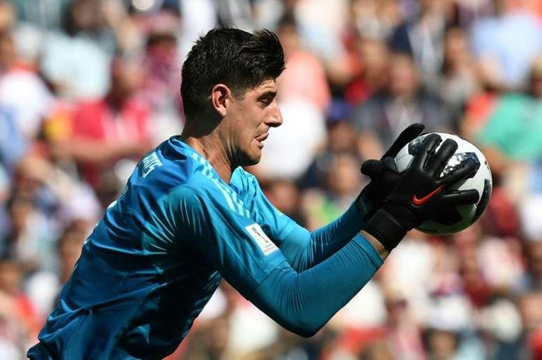 Roberto Martínez elogió la actuación del guardameta belga. AFP