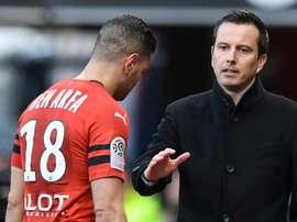 Les compos probables du match de Ligue 1 entre Rennes et Nice. AFP